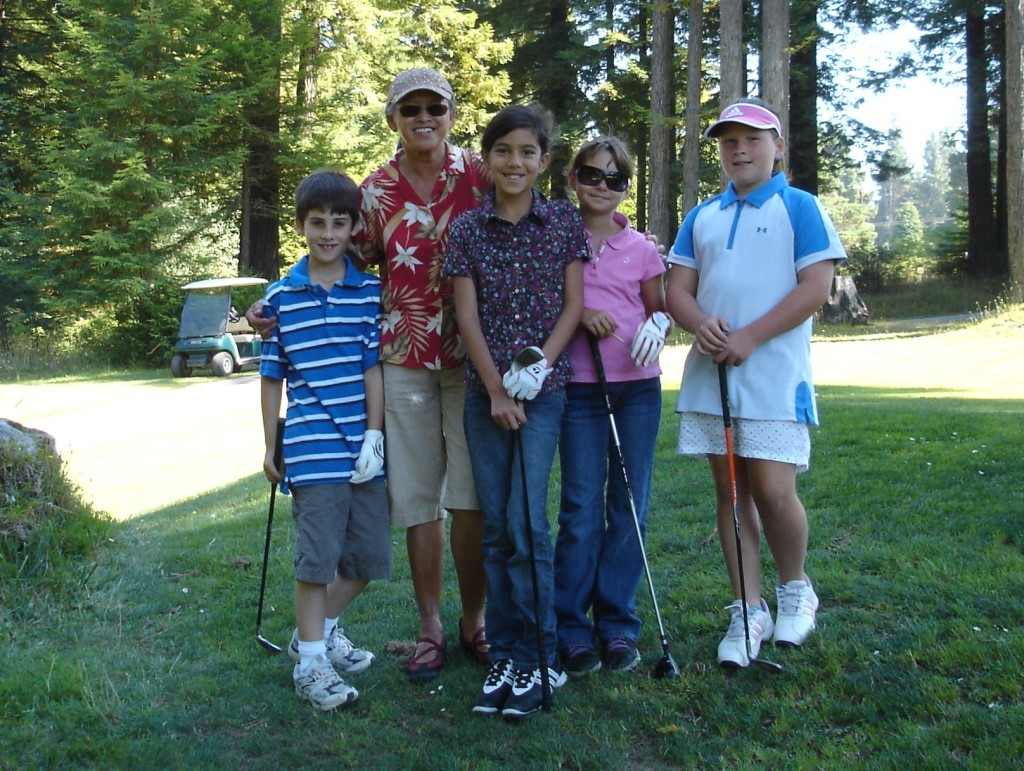 Jr Golfers on the Course